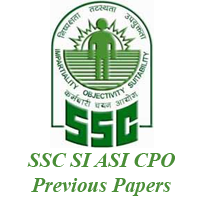 SSC CPO SI ASI Previous Papers