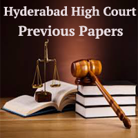 Hyderabad High Court Previous Papers