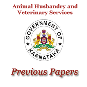 Karnataka AHVS Previous Papers