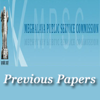 Meghalaya PSC AE Previous Papers