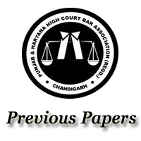 Punjab Haryana High Court Previous Papers