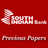 South Indian Bank PO Previous Papers