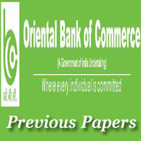 Oriental Bank of Commerce SO Previous Papers