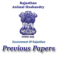 Rajasthan Animal Husbandry Previous Papers