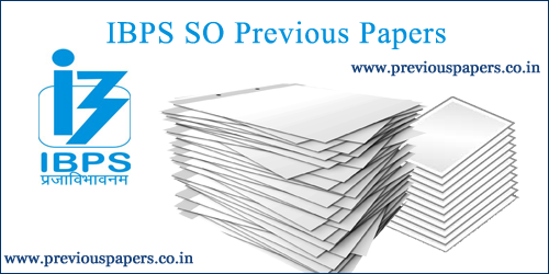IBPS Specialist Officer question Papers