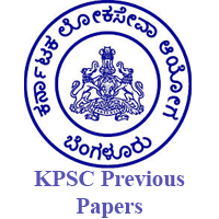 KPSC Previous Papers
