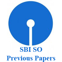 SBI SO Previous Papers