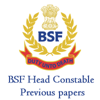 BSF Head Constable Previous papers