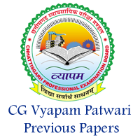 CG Vyapam Patwari Previous Papers