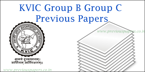 KVIC Group B C Previous papers